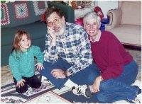 Ashlynn, Duane and Clare Ann at Christmas 2001